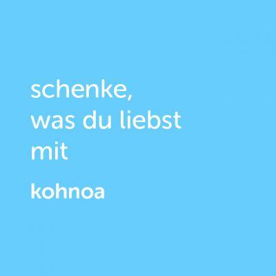 Partner-Wertgutschein: schenke, was du liebst mit Kohnoa - Platzhalter blau