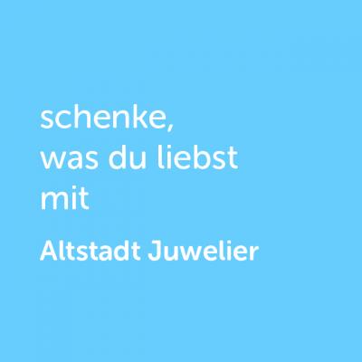 Partner-Wertgutschein: schenke, was du liebst mit Altstadt Juwelier - Platzhalter blau