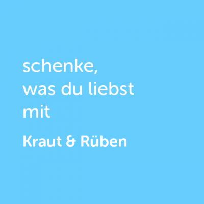 Partner-Wertgutschein: schenke, was du liebst mit Kraut & Rüben - Platzhalter blau