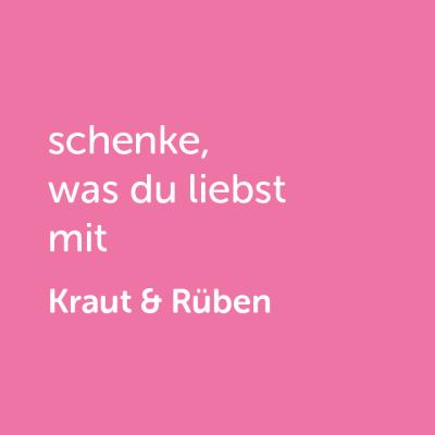 Partner-Wertgutschein: schenke, was du liebst mit Kraut & Rüben - Platzhalter rot