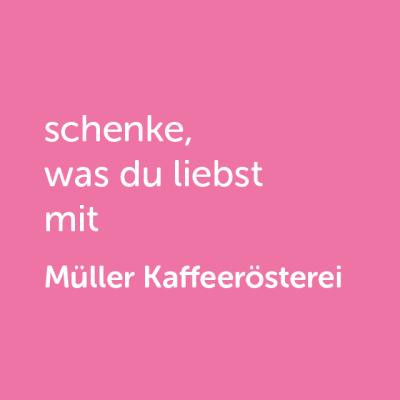 Partner-Wertgutschein: schenke, was du liebst mit Müller Kaffeerösterei - Platzhalter rot