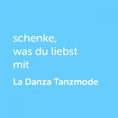 Partner-Wertgutschein: schenke, was du liebst mit La Danza Tanzmode - Platzhalter blau