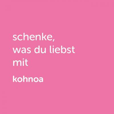 Partner-Wertgutschein: schenke, was du liebst mit Kohnoa - Platzhalter rot