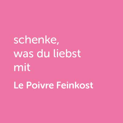 Partner-Wertgutschein: schenke, was du liebst mit le Poivre Feinkost - Platzhalter rot