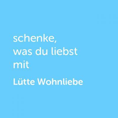 Partner-Wertgutschein: schenke, was du liebst mit Lütte Wohnliebe - Platzhalter blau