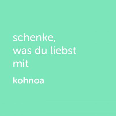 Partner-Wertgutschein: schenke, was du liebst mit Kohnoa - Platzhalter grün