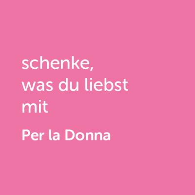 Partner-Wertgutschein: schenke, was du liebst mit Per la Donna- Platzhalter rot
