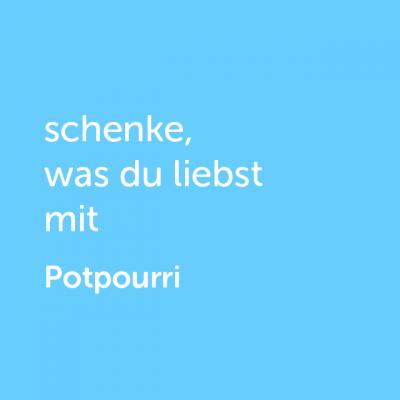 Partner-Wertgutschein: schenke, was du liebst mit Potpourri- Platzhalter blau