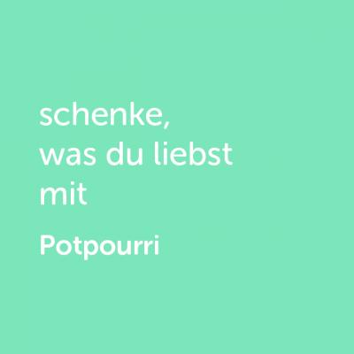 Partner-Wertgutschein: schenke, was du liebst mit Potpourri- Platzhalter grün