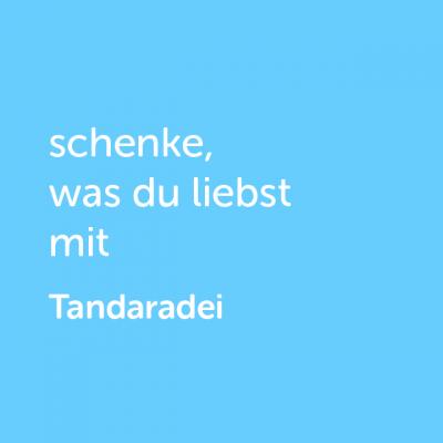 Partner-Wertgutschein: schenke, was du liebst mit Tandaradei - Platzhalter blau