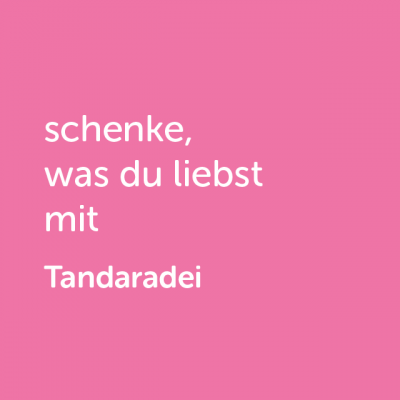 Partner-Wertgutschein: schenke, was du liebst mit Tandaradei - Platzhalter rot