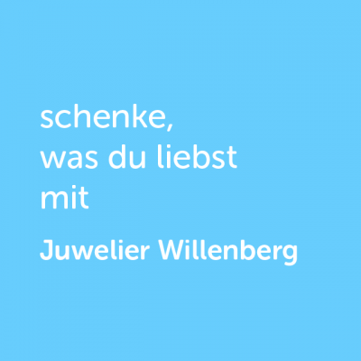 Partner-Wertgutschein: schenke, was du liebst mit Juwelier Willenberg- Platzhalter blau