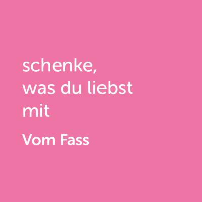 Partner-Wertgutschein: schenke, was du liebst mit Vom Fass - Platzhalter rot