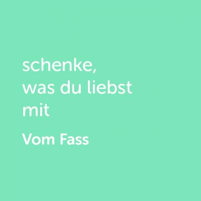 Partner-Wertgutschein: schenke, was du liebst mit Vom Fass - Platzhalter grün