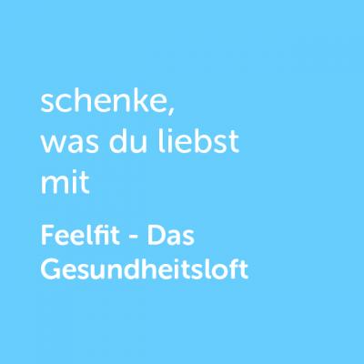 Partner-Wertgutschein: schenke, was du liebst mit Feelfit- Platzhalter blau