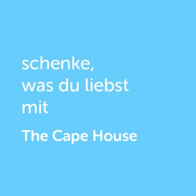 Partner-Wertgutschein: schenke, was du liebst mit The Cape House - Platzhalter blau