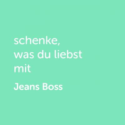 Partner-Wertgutschein: schenke, was du liebst mit Jeans Boss - Platzhalter grün
