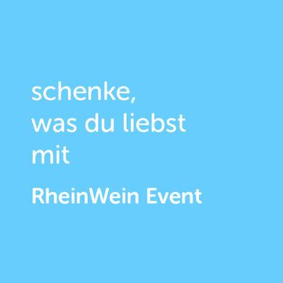 Partner-Wertgutschein: schenke, was du liebst mit Rhein Wein Event - Platzhalter blau