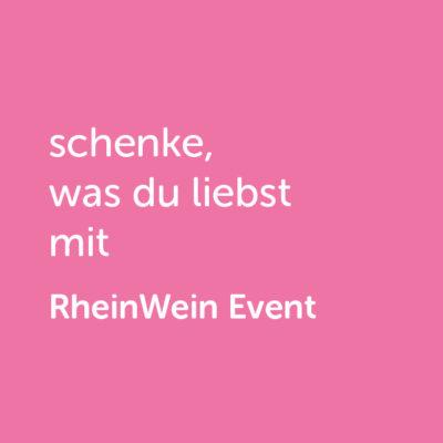 Partner-Wertgutschein: schenke, was du liebst mit Rhein Wein Event - Platzhalter rot