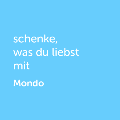 Partner-Wertgutschein: schenke, was du liebst mit Mondo - Platzhalter blau