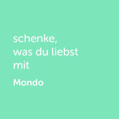 Partner-Wertgutschein: schenke, was du liebst mit Mondo - Platzhalter grün