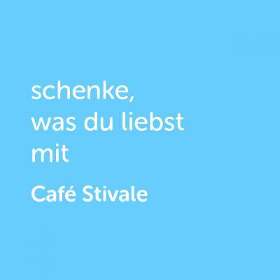 Partner-Wertgutschein: schenke, was du liebst mit Café Stivale - Platzhalter blau