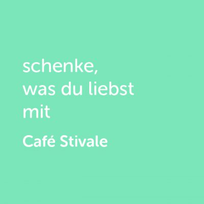 Partner-Wertgutschein: schenke, was du liebst mit Café Stivale - Platzhalter grün