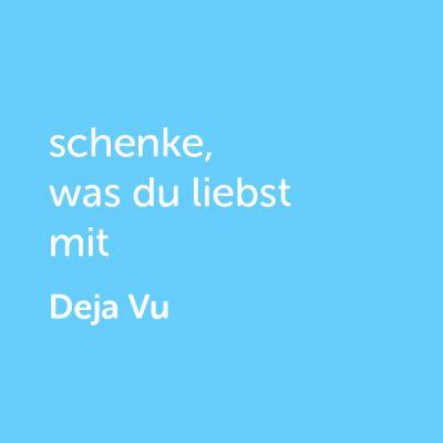 Partner-Wertgutschein: schenke, was du liebst mit Deja Vu - Platzhalter blau