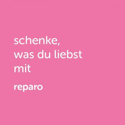 Partner-Wertgutschein: schenke, was du liebst mit reparo - Platzhalter rot
