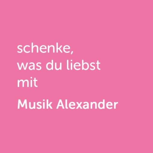 Partner-Wertgutschein: schenke, was du liebst mit Musik Alexander - Platzhalter rot