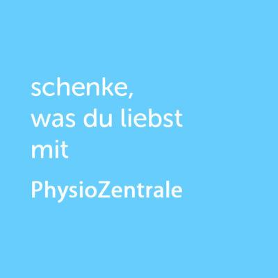 Partner-Wertgutschein: schenke, was du liebst mit PhysioZentrale - Platzhalter blau