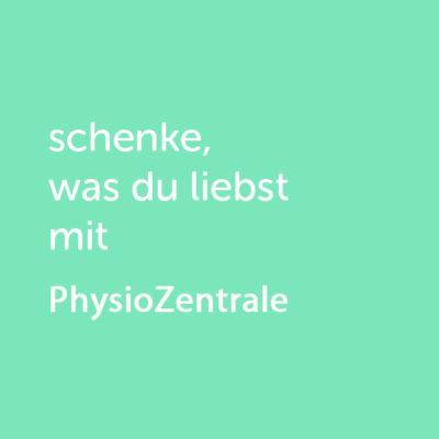 Partner-Wertgutschein: schenke, was du liebst mit PhysioZentrale - Platzhalter grün