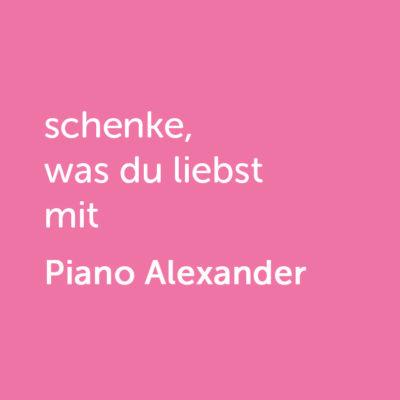 Partner-Wertgutschein: schenke, was du liebst mit Piano Alexander - Platzhalter rot