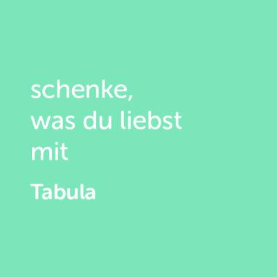 tabula-shop3Partner-Wertgutschein: schenke, was du liebst mit Tabula - Platzhalter grün