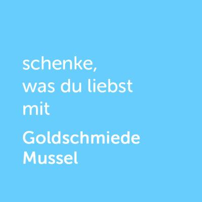 artner-Wertgutschein: schenke, was du liebst mit Goldschmiede Mussel - Platzhalter blau