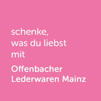 Partner-Wertgutschein: schenke, was du liebst mit Offenbacher Lederwaren Mainz - Platzhalter rot