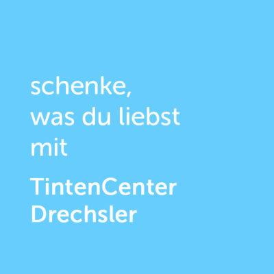 Partner-Wertgutschein: schenke, was du liebst mit Tintencenter Drechsler - Platzhalter blau