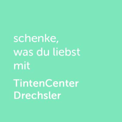 Partner-Wertgutschein: schenke, was du liebst mit Tintencenter Drechsler - Platzhalter grün