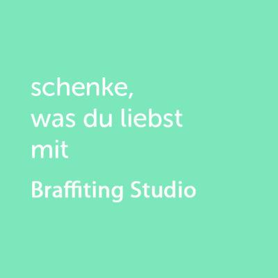 Partner-Wertgutschein: schenke, was du liebst mit Brafittingstudio - Platzhalter grün