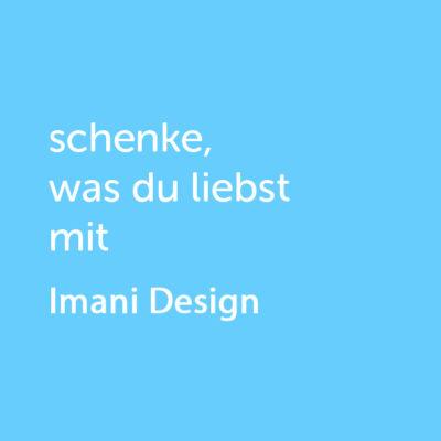 Partner-Wertgutschein: schenke, was du liebst mit Imani Design - Platzhalter blau