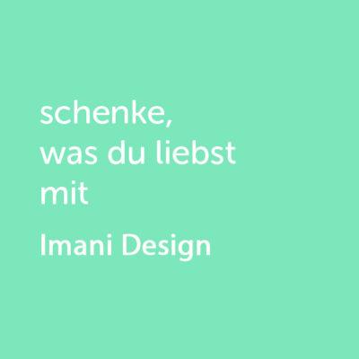 Partner-Wertgutschein: schenke, was du liebst mit Imani Design - Platzhalter grün