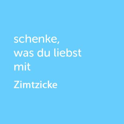 Partner-Wertgutschein: schenke, was du liebst mit Zimtzicke - Platzhalter blau