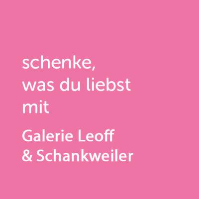 Partner-Wertgutschein: schenke, was du liebst mit Galerie Mainz Leoff & Schankweiler - Platzhalter rot