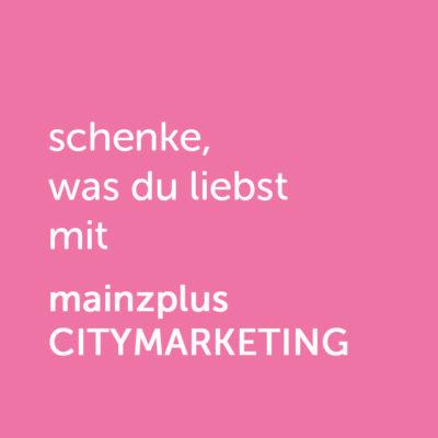 Partner-Wertgutschein: schenke, was du liebst mit mainzplus Citymarketing - Platzhalter rot