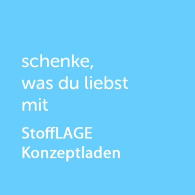Partner-Wertgutschein: schenke, was du liebst mit StoffLAGE - Platzhalter blau