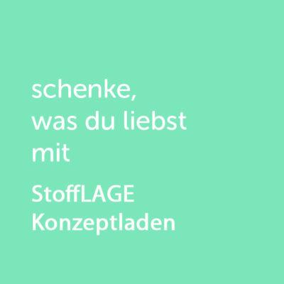 Partner-Wertgutschein: schenke, was du liebst mit StoffLAGE - Platzhalter grün