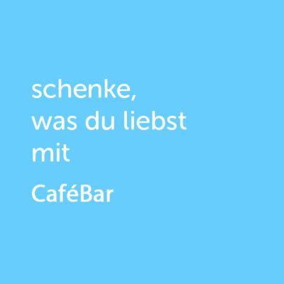 Partner-Wertgutschein: schenke, was du liebst mit Cafébar - Platzhalter blau