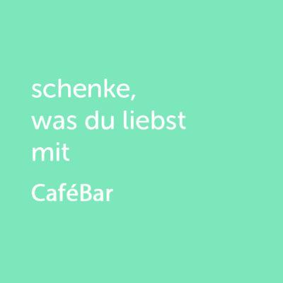 Partner-Wertgutschein: schenke, was du liebst mit Cafébar - Platzhalter grün