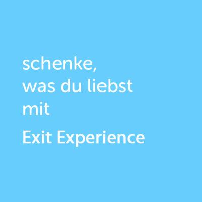 Partner-Wertgutschein: schenke, was du liebst mit Exit Experience - Platzhalter blau
