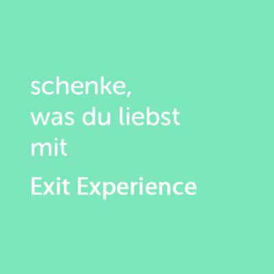 Partner-Wertgutschein: schenke, was du liebst mit Exit Experience - Platzhalter gruen